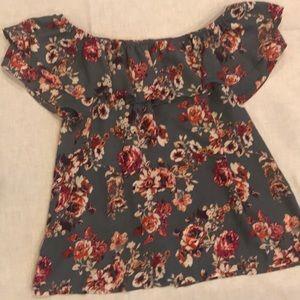 Xhilaration size Large floral off the shoulder top